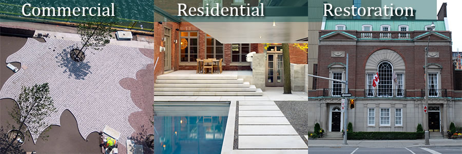 Samples of Residential, Commercial, and Restoration projects
